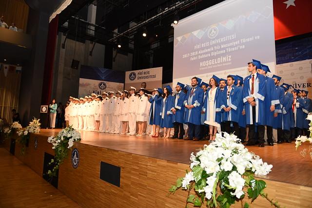 Piri Reis Üniversitesi'nin 2017-2018 Mezuniyet Töreni ve Milli Eğitim Bakanı Sayın Dr. İsmet Yılmaz'a Fahri Doktora Tevdi Töreni