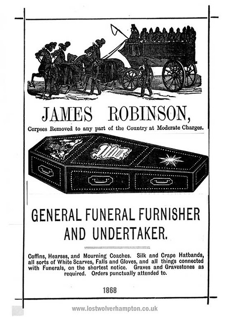 James Robinson a typical undertaker of the time in Troy, NY.
