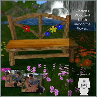 [Park Place] Oberon's Woodland Bench