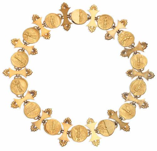 Ancient gold coin necklace