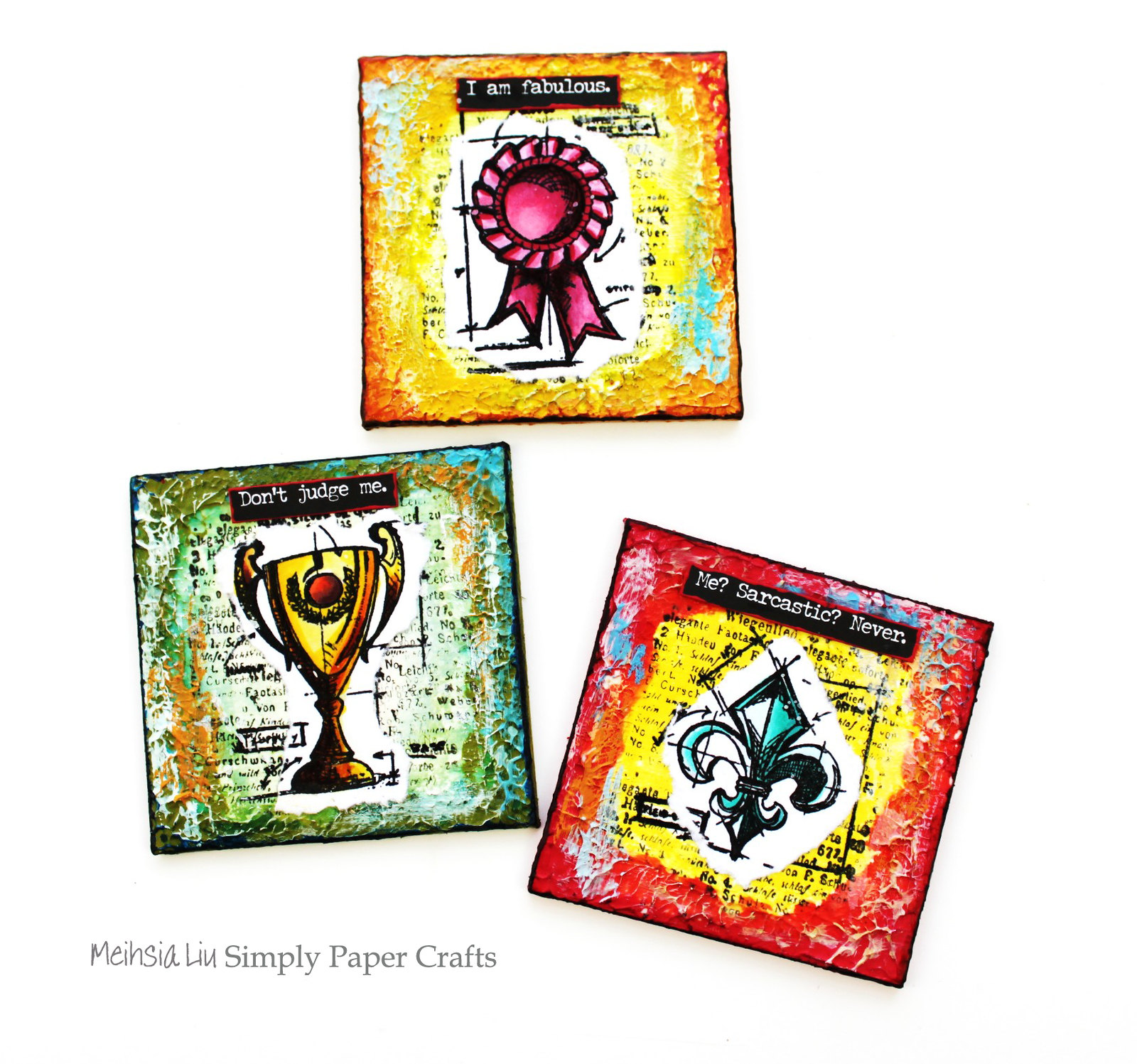 Meihsia Liu Simply Paper Crafts Mixed Media Mini Canvas Not a Card Simon Says Stamp Tim Holtz 5