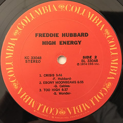 FREDDIE HUBBARD:HIGH ENERGY(LABEL SIDE-B)