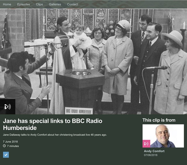 Jane's Christening on the radio