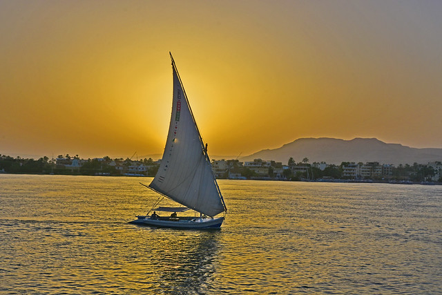 Luxor sunset over the Nile