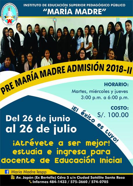PRE MARÍA MADRE-2018-II