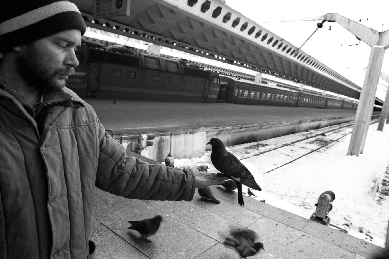 Санкт-Петербург. На железнодорожной станции