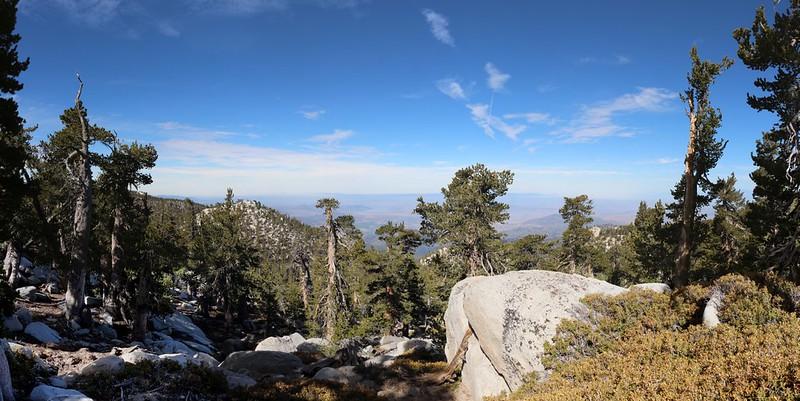 View west from the Deer Springs Trail as we near the top of San Jacinto Peak