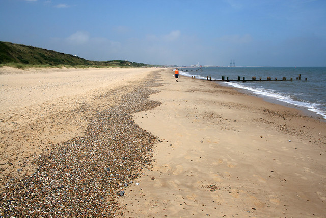 The beach north of Hopton-on-Sea