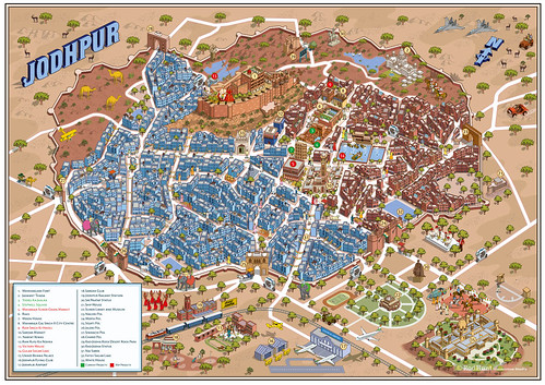 Jodhpur Urban Redevelopment Project Map Illustration by Rod Hunt