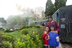 At Batasia Loop in Darjeeling Toy Train
