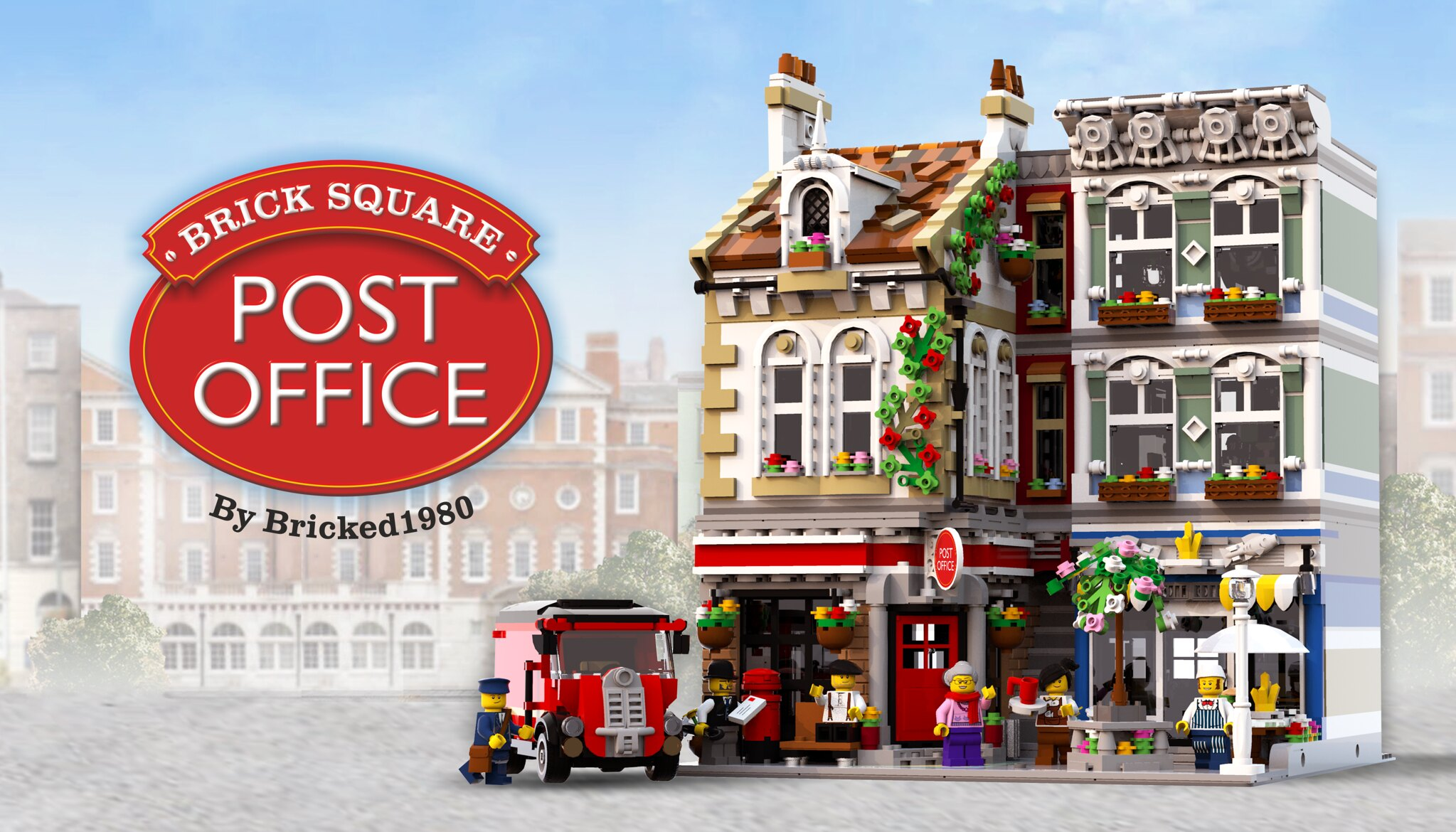 MOC] BRICK SQUARE POST OFFICE - LEGO Town - Eurobricks Forums