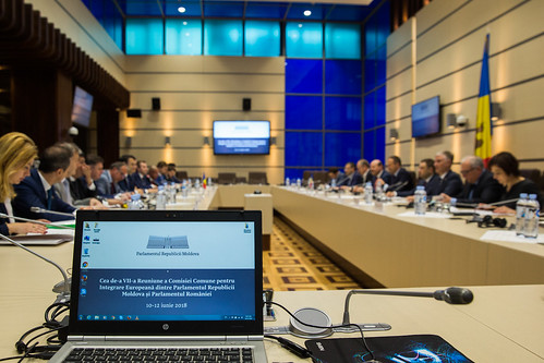 11.06.2018 Întrevederea Președintelui Andrian Candu cu delegatia Comisiei Comune pentru Integrare Europeană dintre Parlamentul Republicii Moldova și Parlamentul României