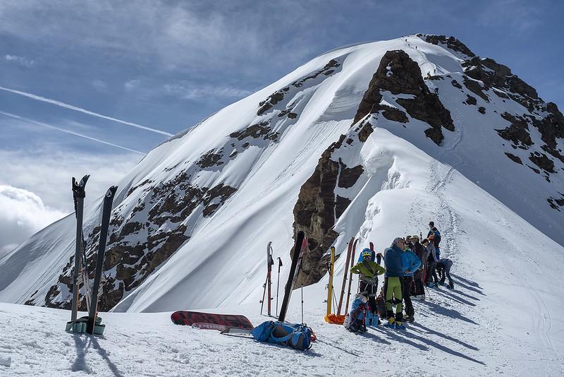 Scialpinismo al San Matteo dal Gavia: la cresta finale dal deposito sci