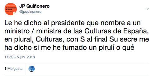 18f05 Ministerio de las Culturas de España