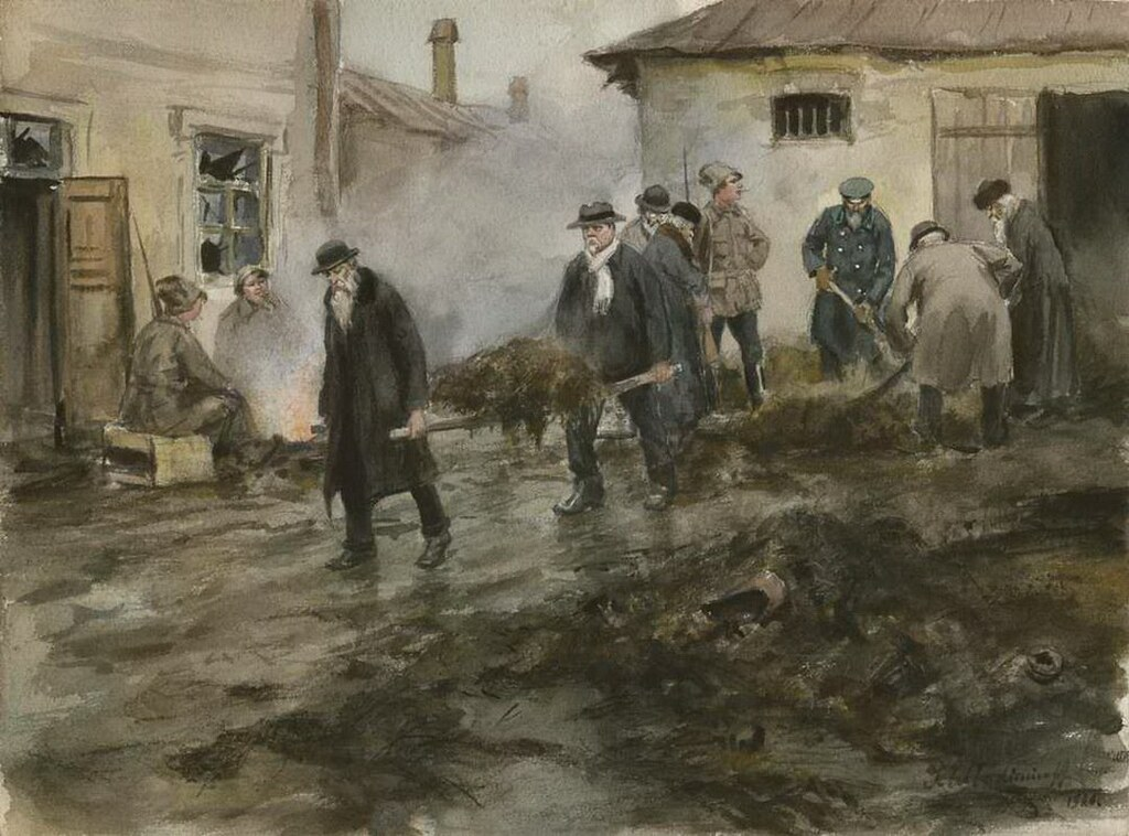 俄国内战与革命的写实绘画22