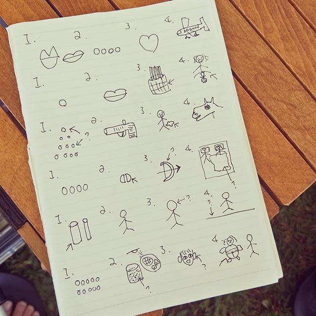 20180609 獨露才有的限量小遊戲 『媽媽畫,你來猜成語』 #歐北露 #campinglife #ilovecamping #campinggames #媽媽從小就沒有美術天份