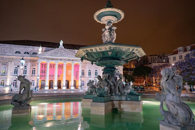 Teatro Nacional D. Maria II from Rossio Square