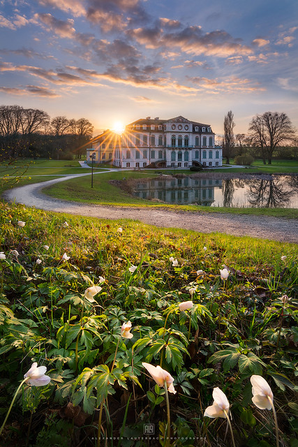 Sunset at castle Wilhelmsthal