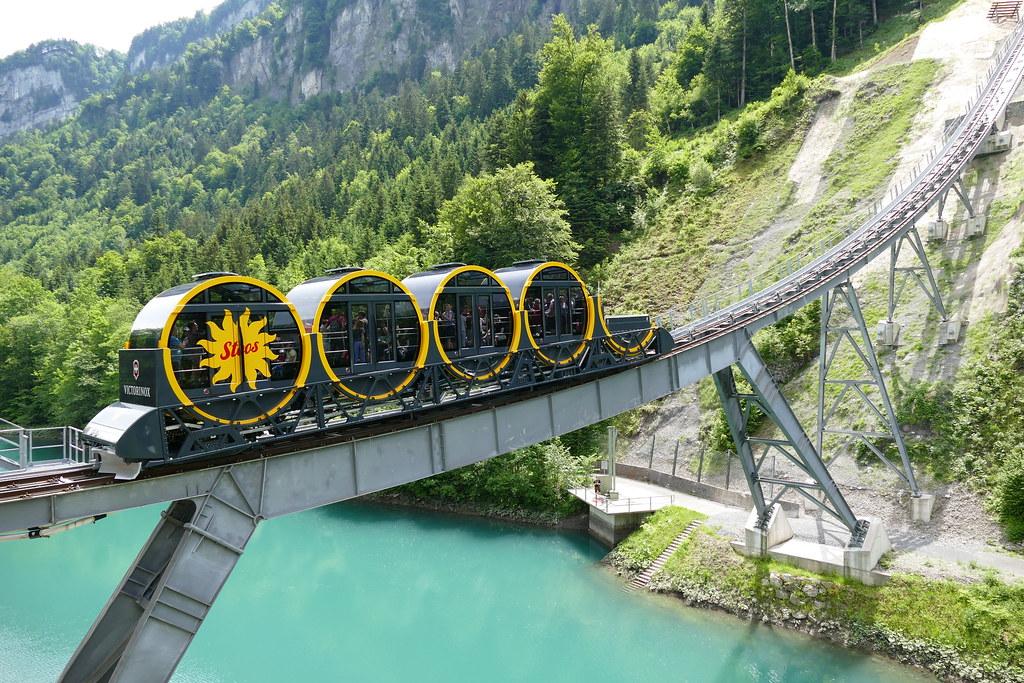 funicular railway Schwyz - Stoos Switzerland