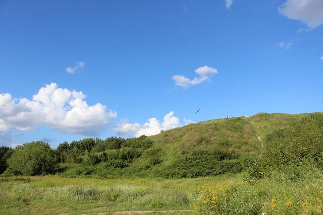 Modellflugzeug überm Drachenberg