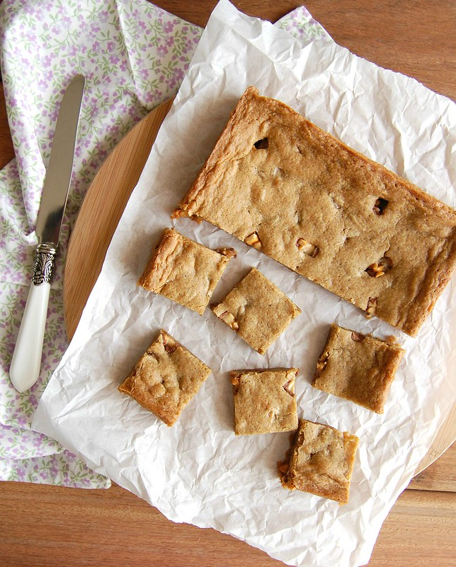 Blondies de Snickers