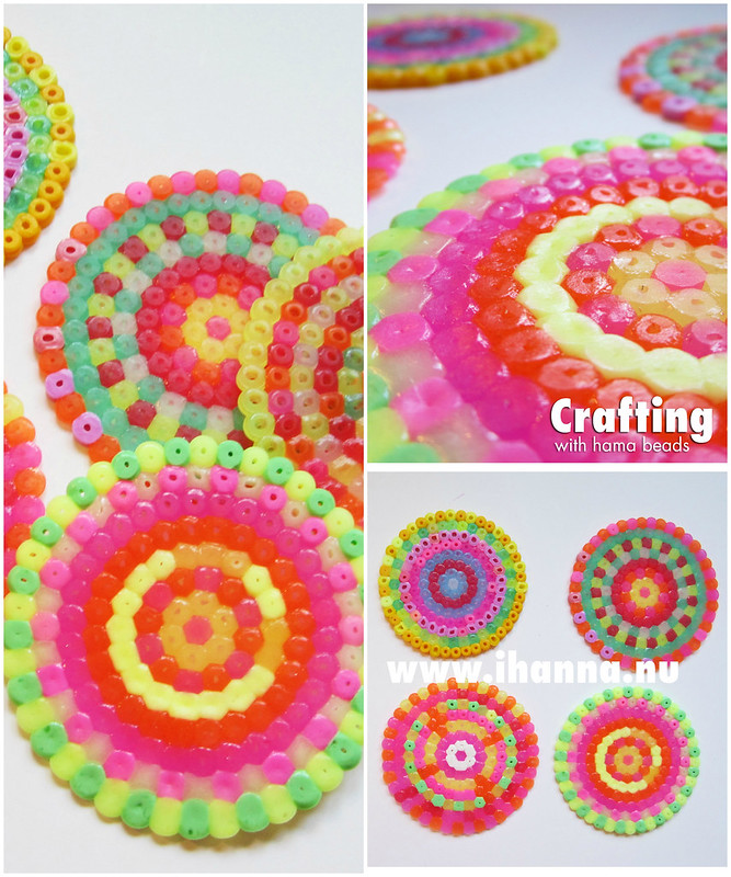 Summer craft Idea: play using Hama (plastic) Beads that you can melt