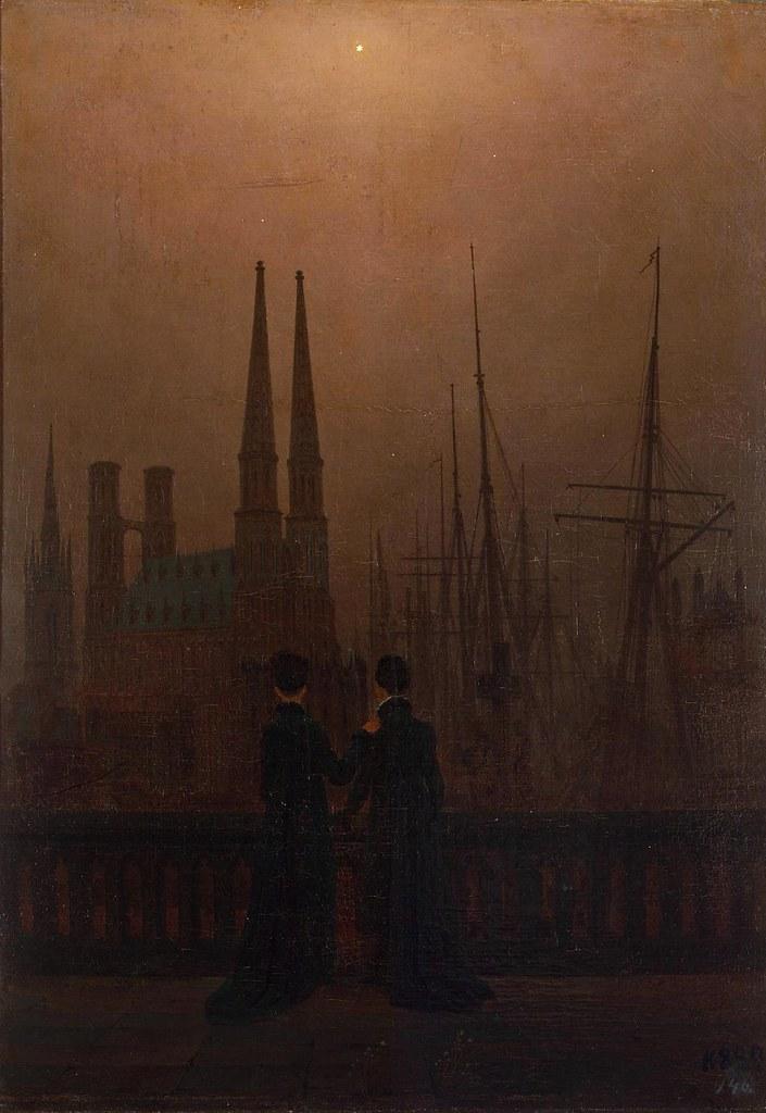 Caspar David Friedrich - The Sisters on the Balcony (c.1819)