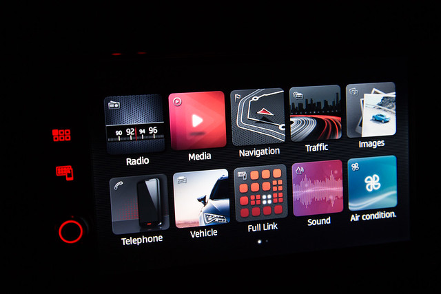 Car Infotainment  System at Night - Free Car Picture - Give Credit Via Link