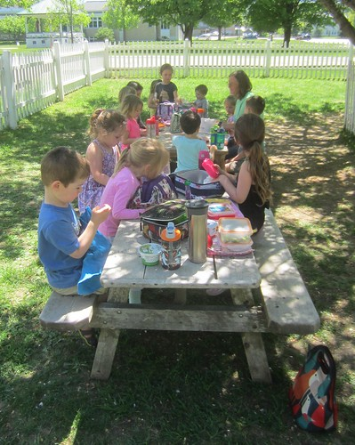 a picnic lunch outside