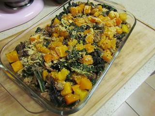 Butternut Squash, Kale & Quinoa Bake