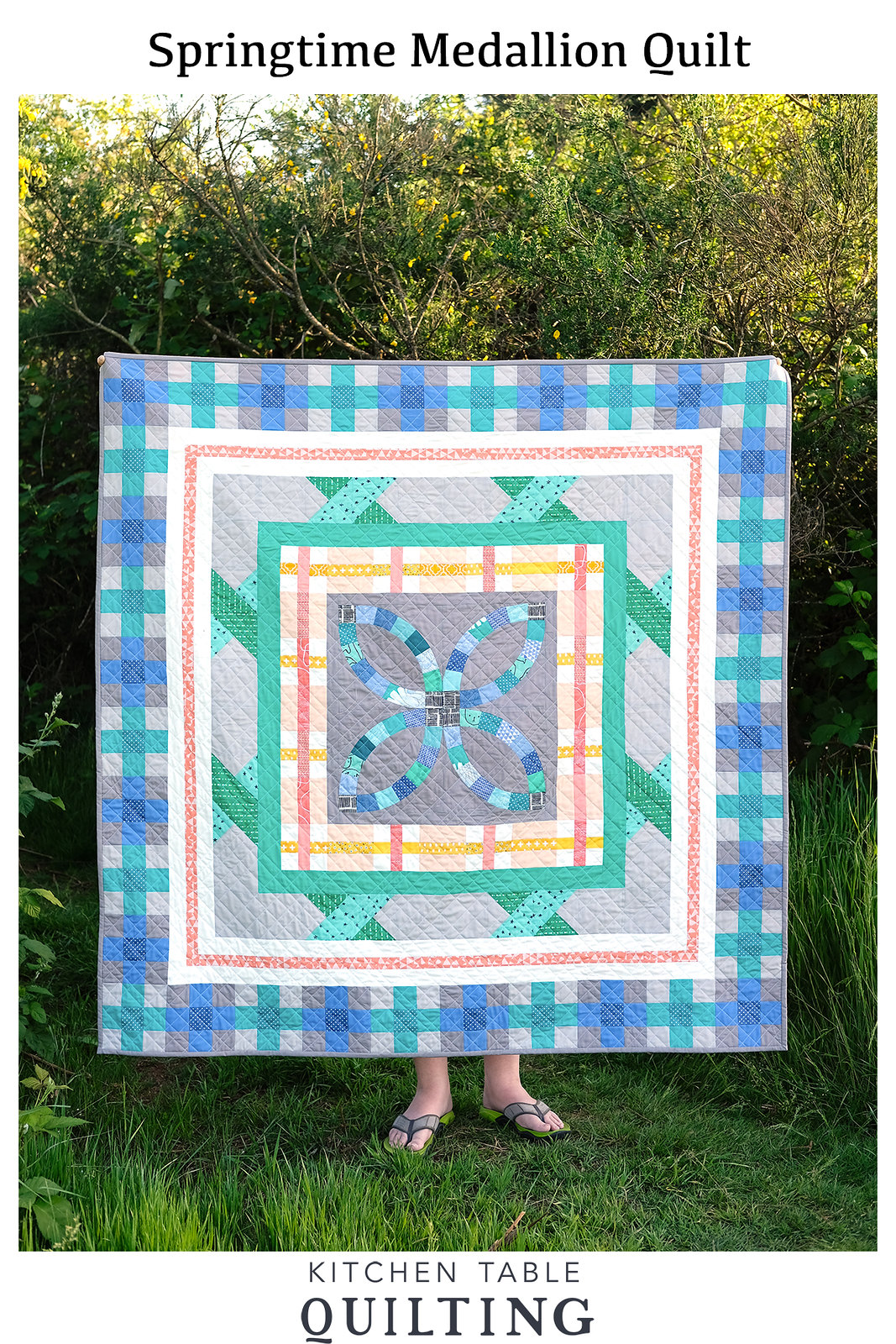 Springtime Medallion Quilt - Kitchen Table Quilting