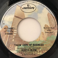 KURTIS BLOW:HARD TIMES(LABEL SIDE-B)
