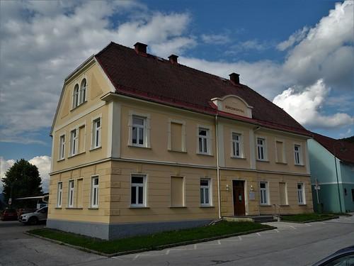 Pliberk/Bleiburg, Carinthia, state of Austria (the art of public places of Bleiburg), Graben (Bürgerspital)