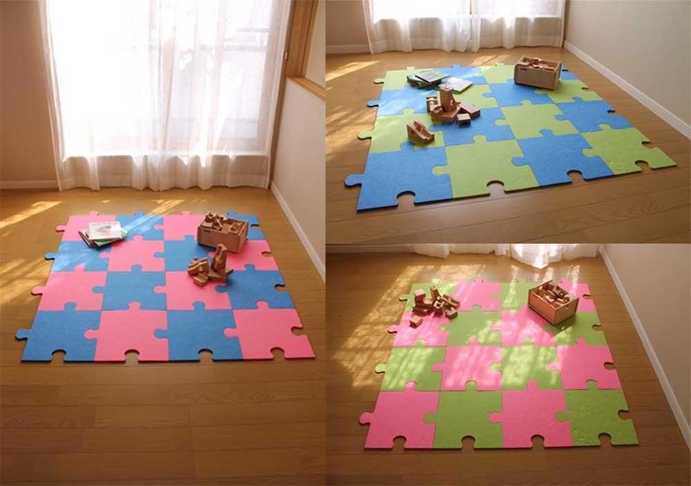嬰兒遊戲爬行墊/兒童跑跳吸音減震墊巧拼日本Felmenon