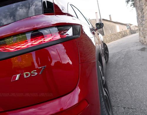 Essai test drive DS7 CrossBack Rouge Absolu