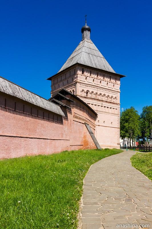 Проездная башня Спасо-Евфимиевского монастыря , Суздаль