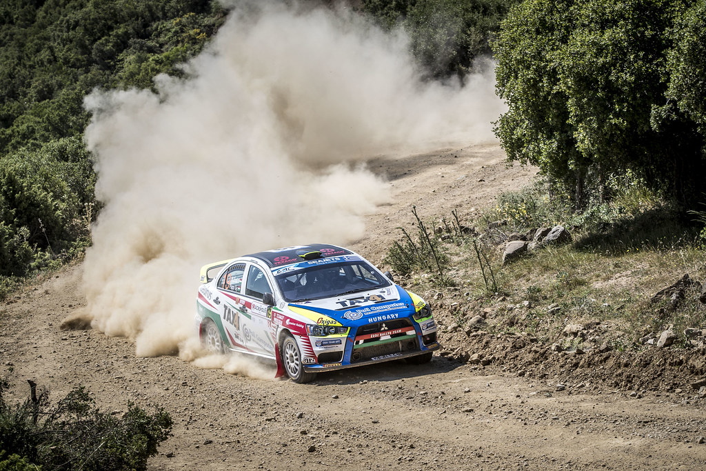 19 ERDI jr  TIBOR (hun), PAPP Gyorgy (hun), Mitsubishi Lancer EVO X, action during the European Rally Championship 2018 - Acropolis Rally Of Grece, June 1 to 3 at Lamia - Photo Gregory Lenormand / DPPI