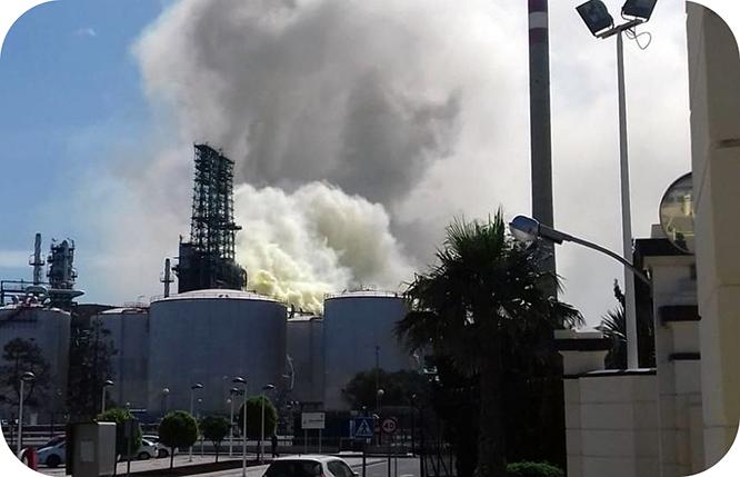 Un escape químico en Repsol hace saltar las alertas