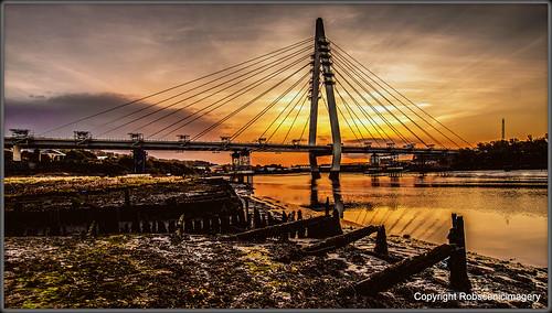 robscenicimagery sunderland spire bridges sunrise rivers wearside
