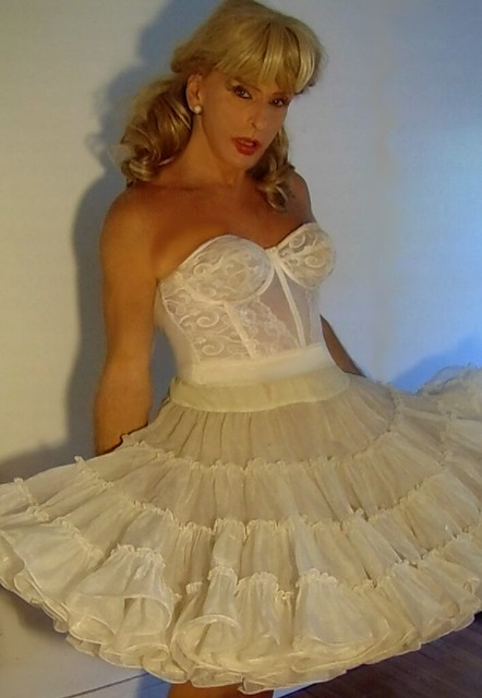 vintage Goddess strapless longline bra