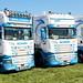 Line-up of BM Transport Ltd Scania Trucks Peterborough Truckfest 2018