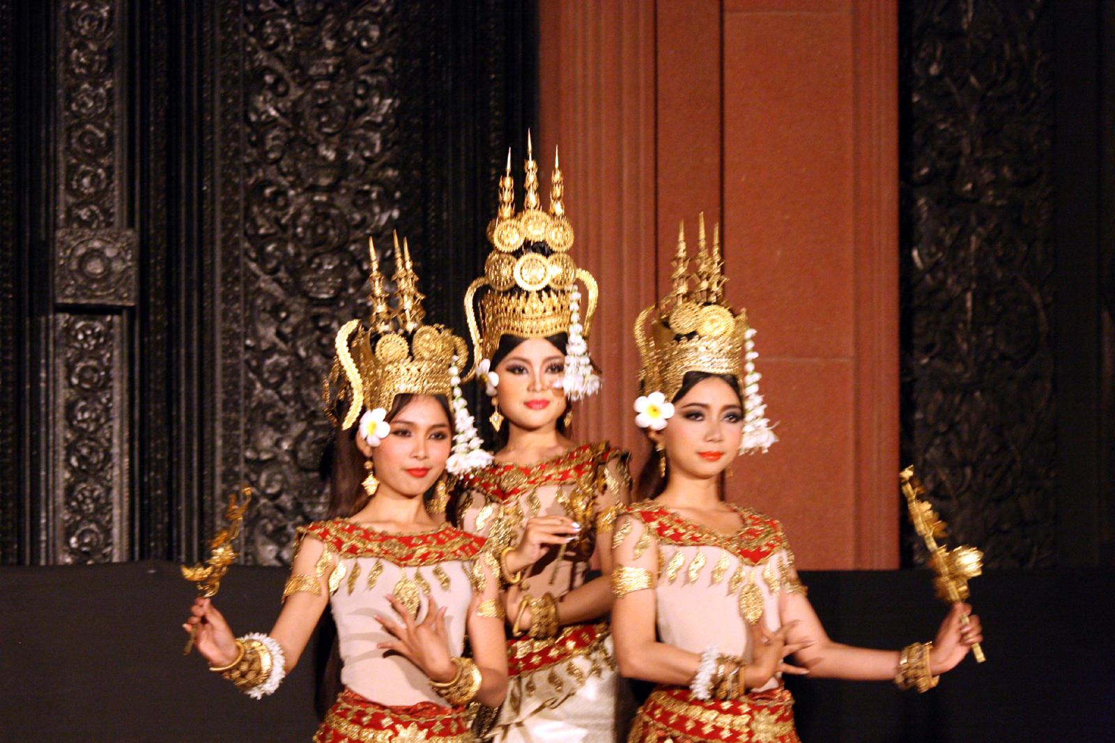 Khmer Apsara dancers. Photo taken on January 5, 2012.