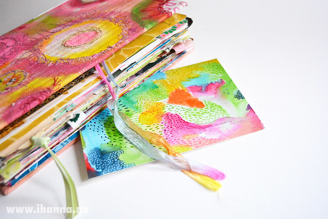 A little abstract painting becomes a colorful postcard