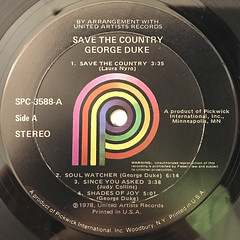 GEORGE DUKE:SAVE THE COUNTRY(LABEL SIDE-A)