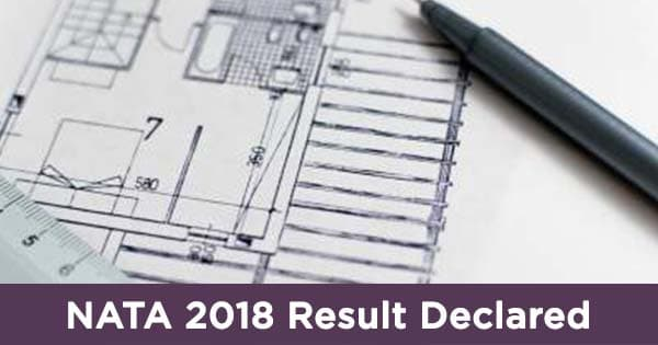 nata 2018 result has been declared on 4 june