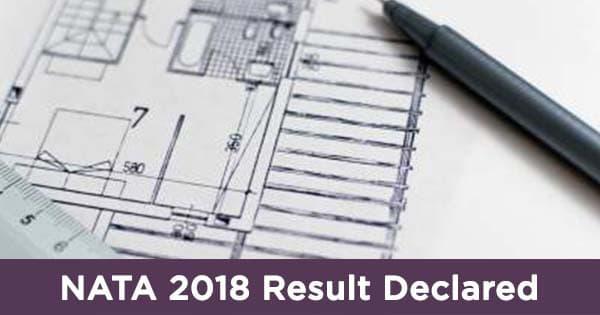 nata 2018 result has been declared on 4 june