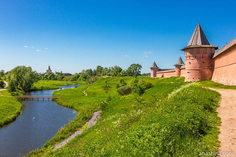 Стены Спасо-Евфимиева монастыря, Суздаль