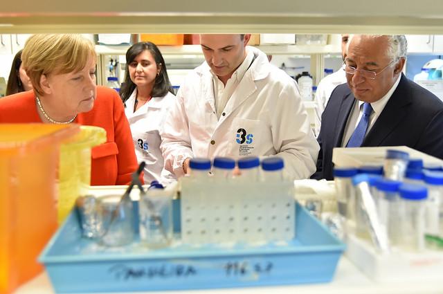 Visita de Angela Merkel ao i3S