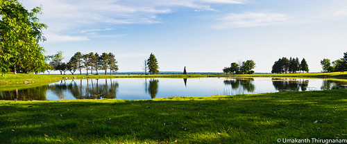 nepean ottawa ontario canada panorama d800 nikonpce nikonpce24mm tiltshift landscape wideangle sky green pond water windmill andrewhaydonpark park river ottawariver trees