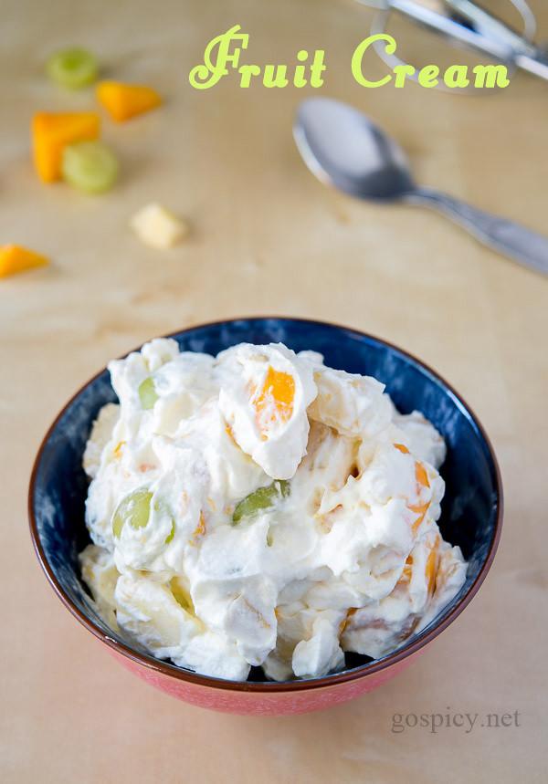 Fruit Cream Recipe by GoSpicy.net